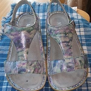 Alegria Kendra sandals blue and purple